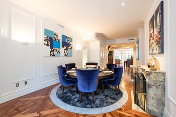 Rare and unique 8 room duplex grand home in a sophisticated upper east side townhouse